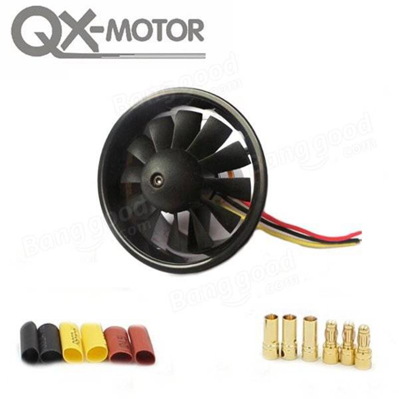 купить QX-Motor 64mm 12 Blades Ducted Fan With 2822 3500KV 3-4S Brushless Motor по цене 1611.77 рублей