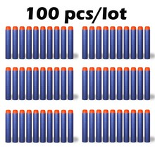 100Pcs 7 2CM EVA Soft Hollow Hole Head Refill Darts font b Toy b font Gun