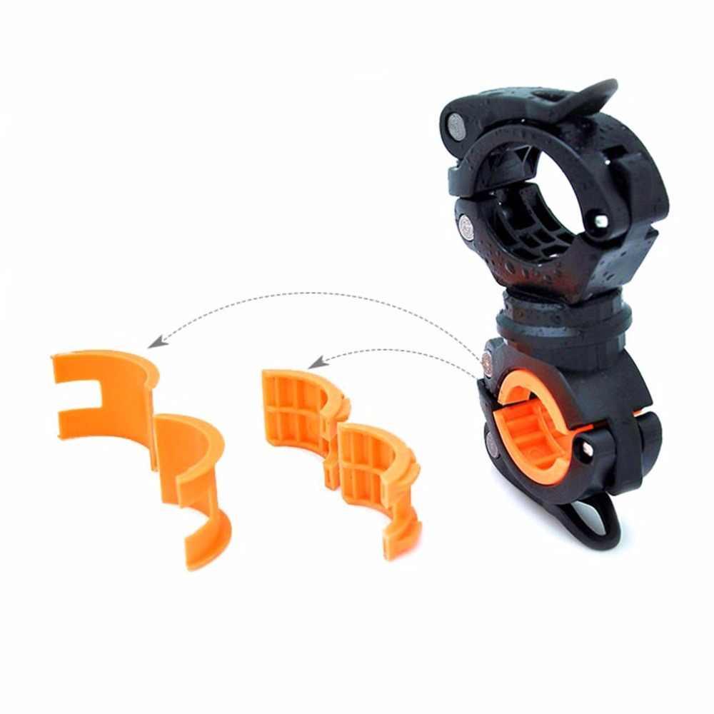 360 stopni obrót latarka rowerowa uchwyt do montażu rowerów sztyca zaciski przednie światła pompa uchwyt na kierownicę akcesoria rowerowe