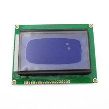 Glyduino LCD12864 Display Module Blue Screen with Backlight 5V ST7920 Parallel Port LCD Display for Arduino