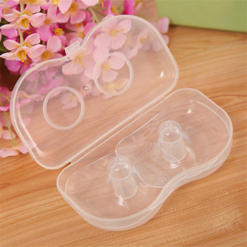 2 PCS Silicone Nipple Protector Feeding Mother Nipple Protection  Protective Cover Breastfeeding Breast Milk Silicone Nipple