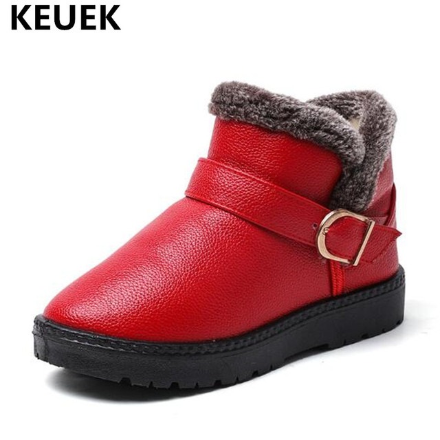 1ff797517e6ab New Winter Warm Children Snow Boots Boys Girls Thick Plush PU Leather Ankle Boots  Kids Baby Snow Shoes Toddler Size 22-38 04