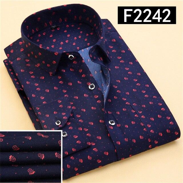 2017 новая весна мужская с длинными рукавами рубашки случайные печати решетки нагрудные рубашка