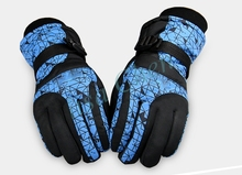 Multi colours Women ski snowboard gloves 1 pair winter warm outdoor motorcycle riding sports gloves One