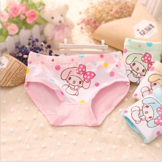 644ee928f4 Bragas para Niñas kawaii Ropa interior estilo rural Pantalones cortos  viveros impresión culotte fille enfants bebé