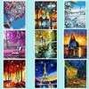 HOME BEAUTY Oil Paint Painting By Numbers Diy Picture Waterfall Drawing On Canvas Oil Painting By