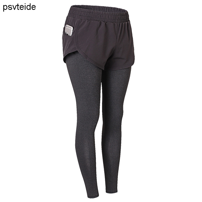 Women's running pants tights 2 in 1 trousers fitness yogaPants Gym trousers compression pants sports training exercise leggings