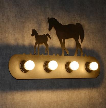 цена на personality Creative wall lamp bar decoration wall light wall sconces lighting contains LED bulbs free shipping