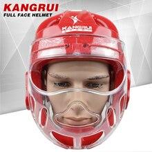 Топ quanlity боевой каратэ шлем тхэквондо Защита головы с лицом маска ММА Муай Тай боксерский шлем головной убор