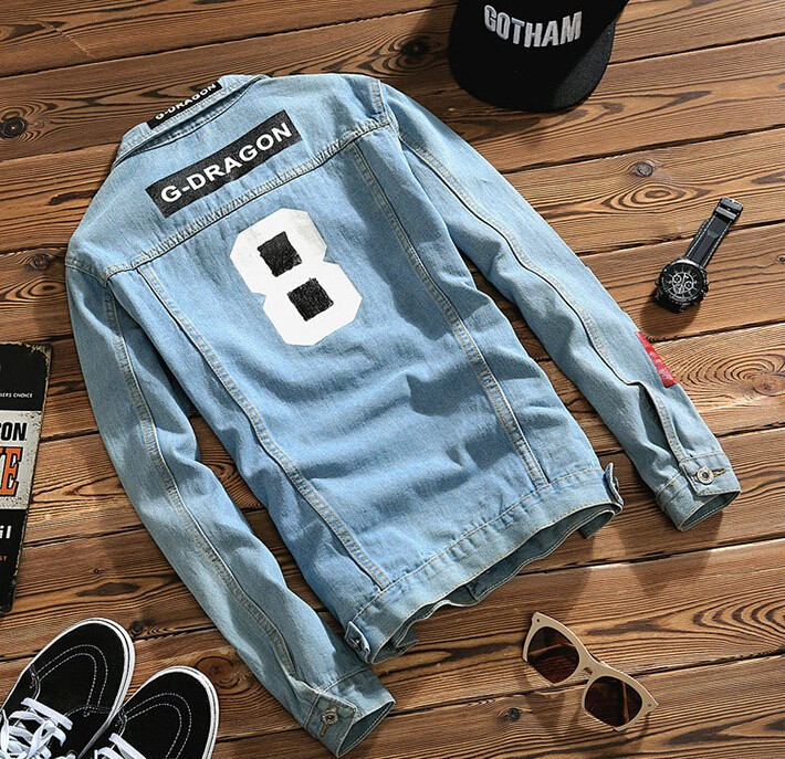 AILOOGE 2017 Spring New Top Quality Denim Jackets Men Hip Hop Clothing Long Sleeve Street Wear Jeans Jackets Free Shipping 5XL