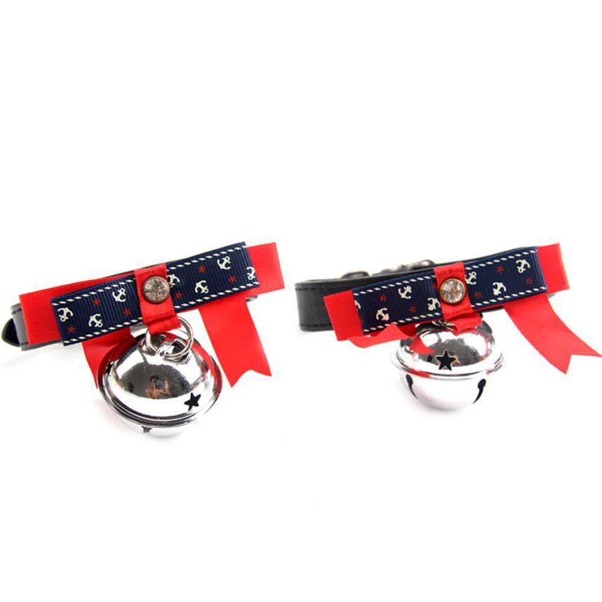 Новый Регулируемая Собака Кошка Pet милый галстук с колоколом щенок котенок галстук воротник тасма Kolye ошейник для домашних животных ошейник