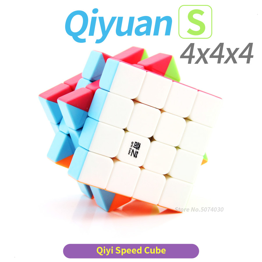 Game Cube <font><b>4x4</b></font> Cube Speed Cubo Magico 4x4x4 <font><b>Qiyi</b></font> <font><b>Qiyuan</b></font> <font><b>S</b></font> Puzzle 62mm Competition Toys For Children Kids cubo WCA image