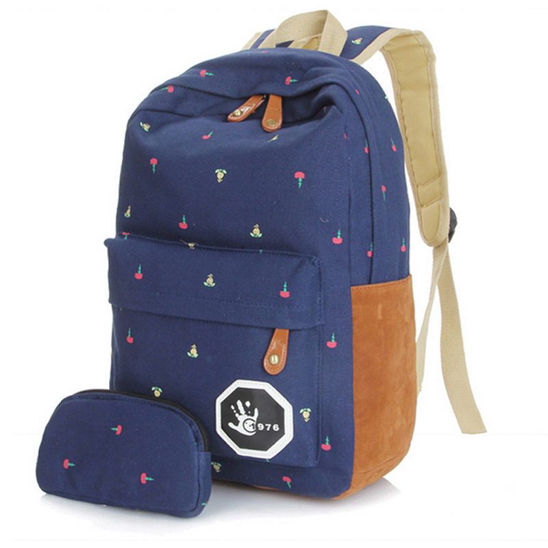 55523ec618d Women Girls Preppy Style Letter Print Shoulder School Bags Travel Backpack  Bag Teenagers Shoulder Bag mochilas ...