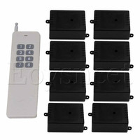 Self lock 8 Key Remote Control Switch 433MHZ Receiver 12V 1CH 8Receiver
