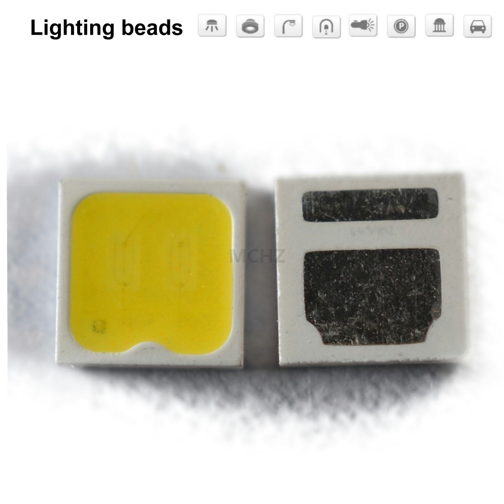 100pcs LOT SMD LED SEOUL 3030 CRI 90 95 Chip 1W 1 4W 3V 3 6V 400MA White warm cold 100 110LM in Light Beads from Lights Lighting