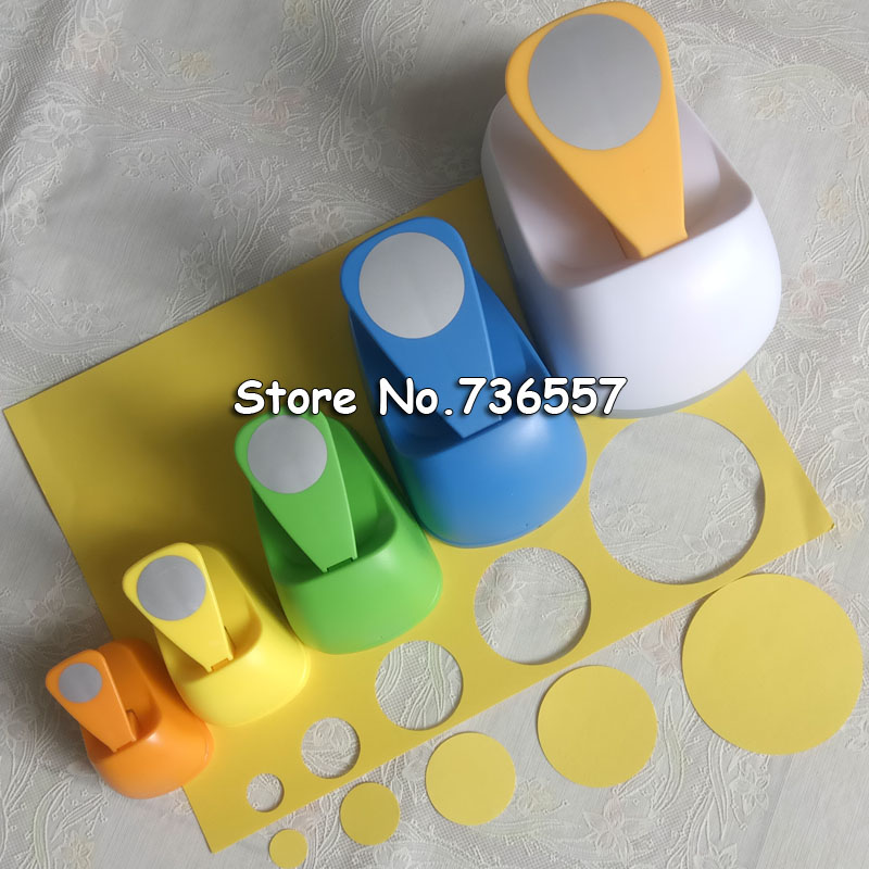 """1pc 3"""" 2"""" 1.5"""" 1"""" Circle Shape Craft Punch Hole Paper Cutter Scrapbooking School Paper Puncher Eva Hole Punch Free Shipping"""