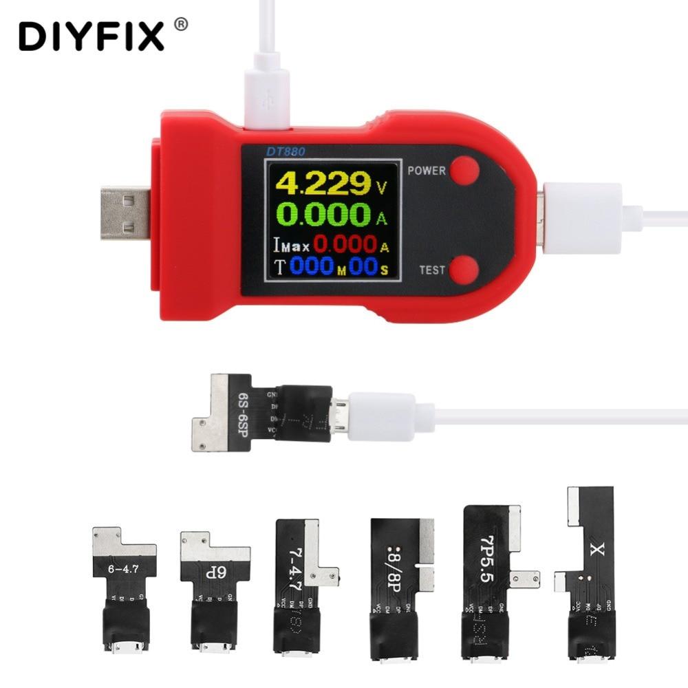 DIYFIX Analizzatore Tester Corrente di Manutenzione Del Telefono Mobile per il iphone 6/6 P/6 S/6SP/7 /7 P/8/8 Plus/X/XS Tester di Tensione 5 V a 4.2 V di UscitaDIYFIX Analizzatore Tester Corrente di Manutenzione Del Telefono Mobile per il iphone 6/6 P/6 S/6SP/7 /7 P/8/8 Plus/X/XS Tester di Tensione 5 V a 4.2 V di Uscita
