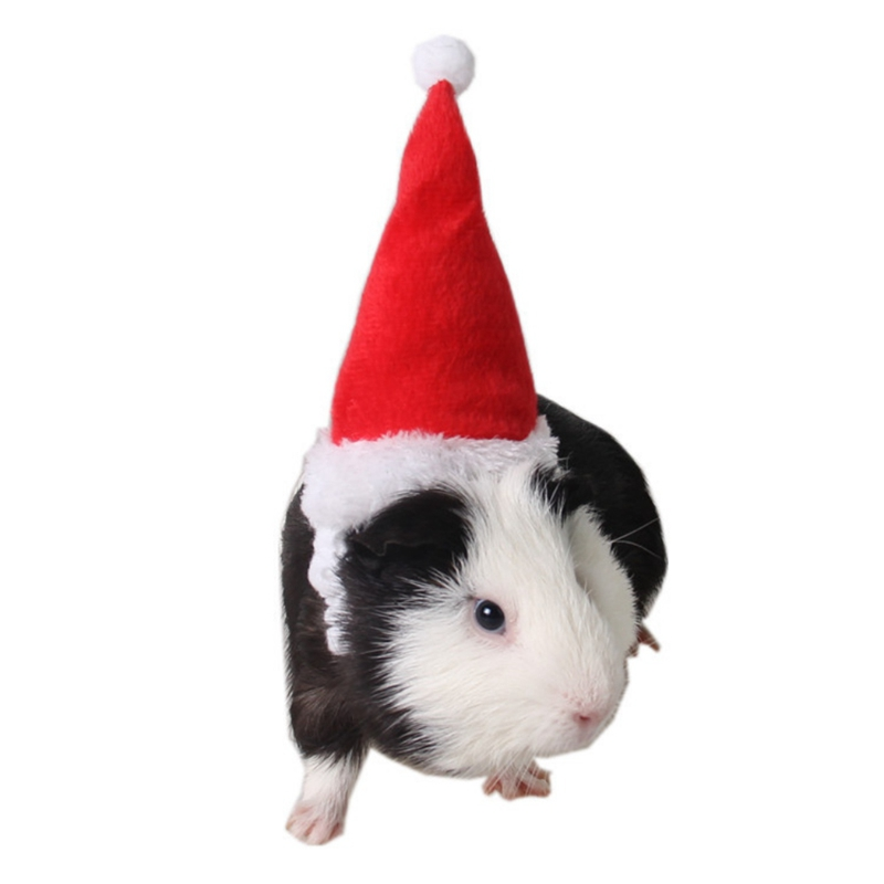 New Small Pets Christmas Festival Decorative Costume Hamster Squirrel Santa Hat With Band Pet Products