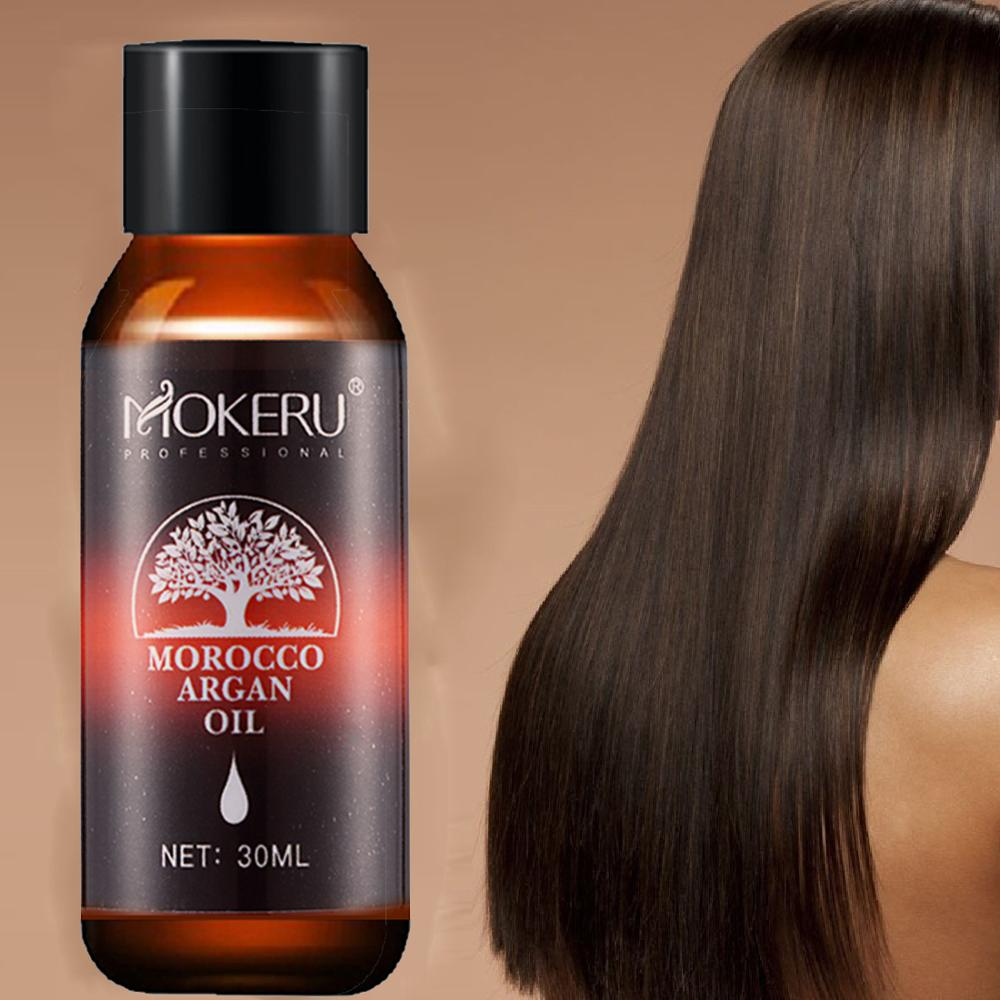 Mokeru 2PC/Lot Natural Essence Argan Oil 30ml Repairing Dry Damage Hair Growth Oil Treatment For Woman Hair Care Skin Care