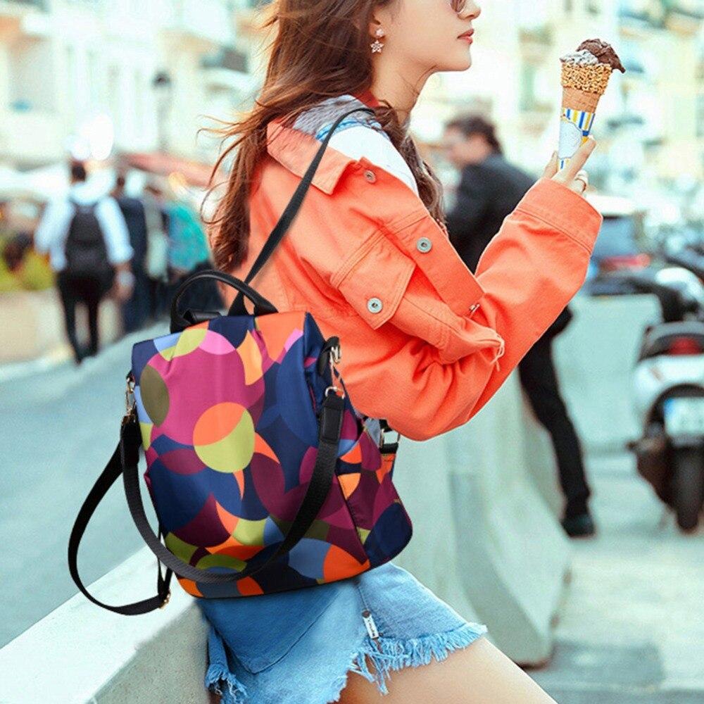 HTB18KVlbEGF3KVjSZFmq6zqPXXav Casual Oxford Cloth Women Backpack Anti Theft Girls Schoolbags Teenager Travel Daypack Shoulder Bag Colorful Fashion Back Pack
