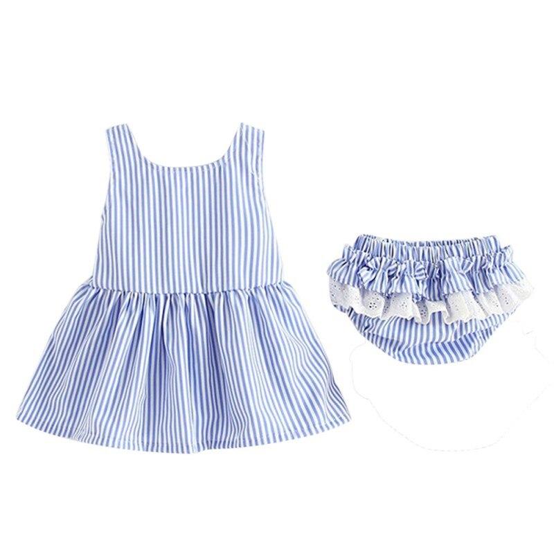 WEIXINBUY Модная одежда для детей, Детская мода дети Комплекты летней одежды для девочек полосатые топы Футболка + Шорты Брюки 2 шт. комплекты