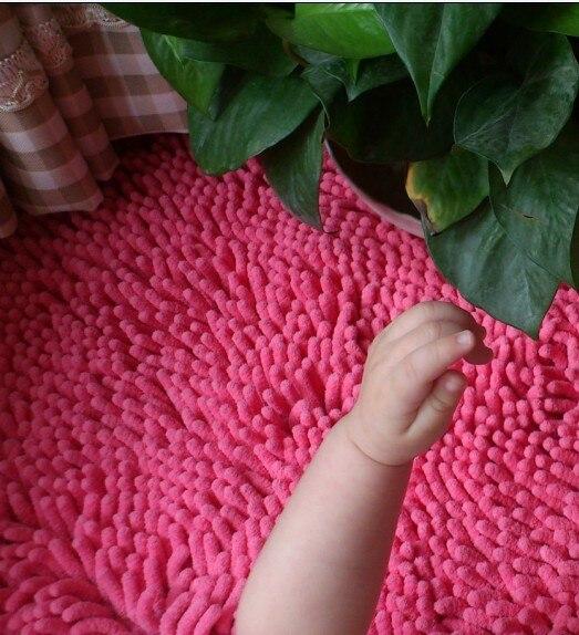 Lavage à l'eau chenille tapis salon table basse chambre tapis personnaliser tapis paillasson