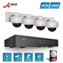 ANRAN P2P Plug and Play 1080P HD H.264 4CH POE NVR 30 IR Outdoor Waterproof Dome Security POE IP Cameras CCTV System Hard Disk