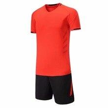 2017 New V collar soccer jerseys set Anti wrinkle Breathable Quick-drying team training football jerseys custom soccer tracksuit
