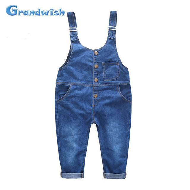 Grandwish New Kids Ripped Denim Jeans Pants Children Overalls Jeans Pants Boys and Girls Casual Jeans Jumpsuit 3T-8T, SC020