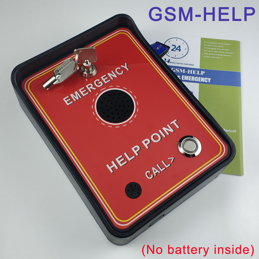 GSM handfree audio intercom alarm emergency help calling phone sliding gate garage door access control factory security цена и фото