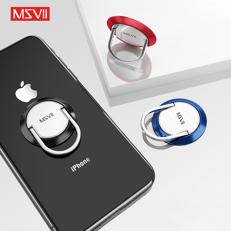 MSVII Phone Holder Stand Magnetic Universal Desk Lazy Finger Ring Holder For Mobile Phones Telefoonhouder Auto Anneau Telephone