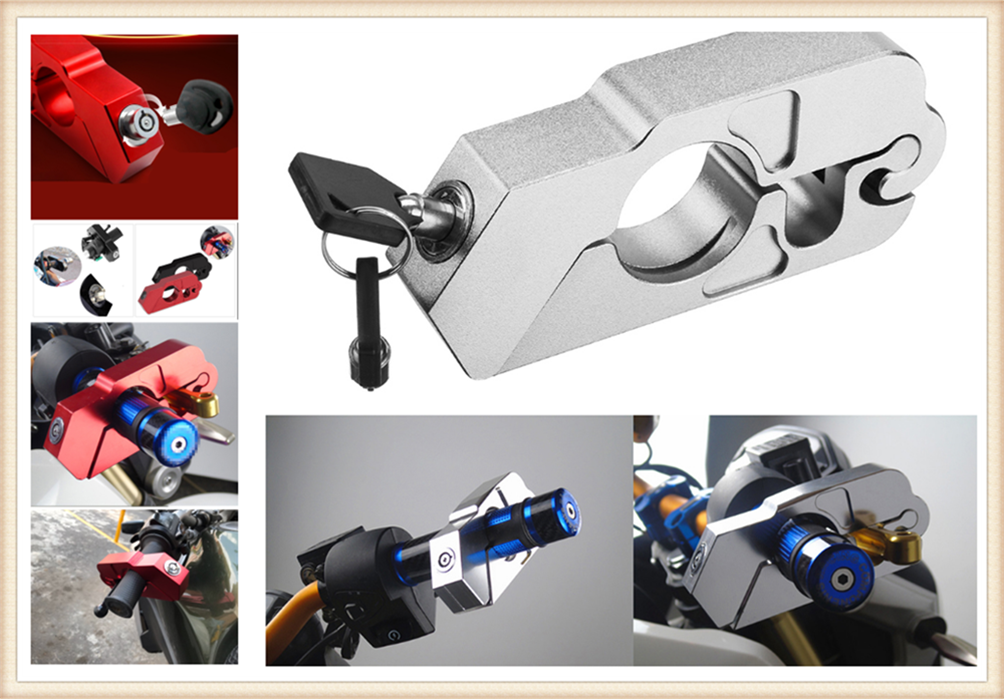 Motorcycle ATV Aluminum Alloy Anti-theft Security Lock Handle Brake For HONDA CBR500R CB500F X GROM RC51  RVT1000 SP-1 SP-2