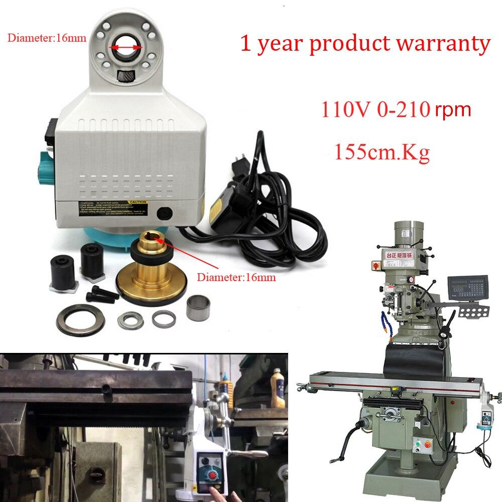 Geräuscharm 110V 0-210rpm X achse Power Feed 155cm.kg 135in.lb Staub-und Wasserdicht für Fräsen Maschine DIY Upgrade