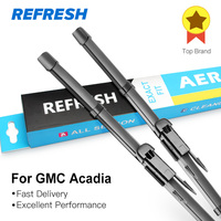 Refresh Wiper Blades For GMC Acadia 24 21 Fit Push Button Pinch Tab Arms 2007 2008