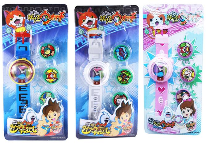 Japan Anime Yokai Watch Lighting sound watch hasbro yokai watch b5943 йо кай вотч часы