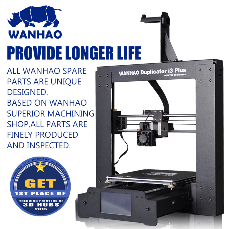 2016 upgraded WANHAO I3 PLUS, easy assemble, with touchable LCD screen, offer testing filaments & 4 SG SD card as gift hot sale wanhao d4s 3d printer dual extruder with multicolor material in high precision with lcd and free filaments sd card