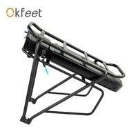 Bateria poderosa da cremalheira traseira da bateria 36 v 48 v 13ah 16ah de okfeet para a bateria de bafang ebike + bagagem da dupla camada Bateria de bicicleta elétrica     -