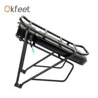 Okfeet powerful bateria 36V 48V 13Ah 16Ah Rear Rack Battery for Bafang eBike Battery + Double Layer Luggage