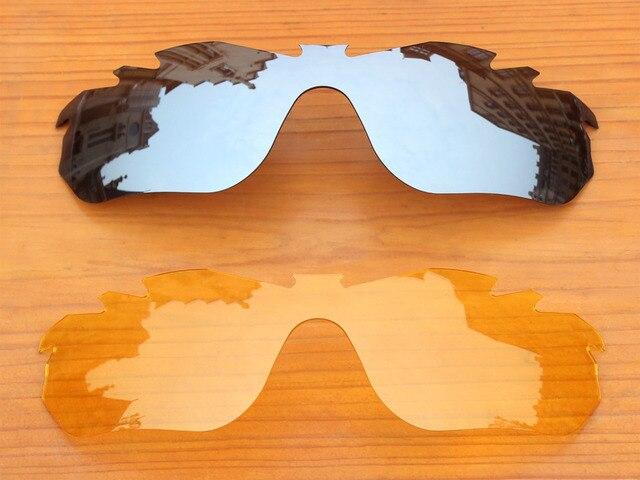 Chrome Silver   Cristal Amarelo 2 Peças Borda Vented Lentes de Reposição  Para óculos RadarLock Óculos 6b7910dd78
