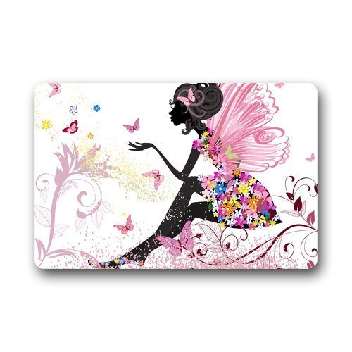 Personalize Decor Carpets Door Mats Butterfly Girl Doormats Top Fabric & Rubber Indoor O ...