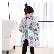 Good quality New Children Winter Jacket Girls WarmThickened Down Coat Kids Causal Outdoor Snow Coat Outerwear   HB1035