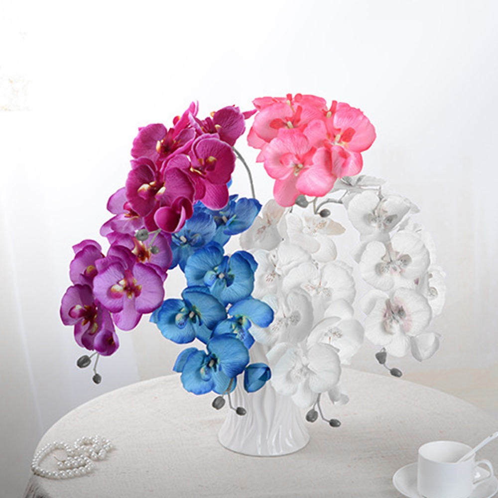Phalaenopsis Artificial Silk 8 Heads Butterfly Orchid Flower ...