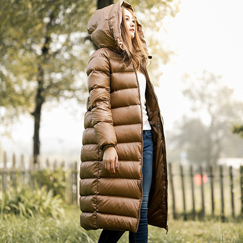 2018 New Winter Women White Duck   Down   Parkas Female   Down   Jacket Ladies   Down     Coat   Female Warm Waterproof Long Parkas YP1634