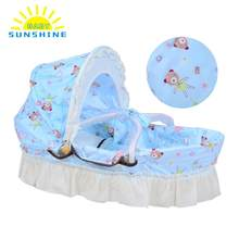 2018 Fashion baby bed Multifunctional Portable Baby Cradle Bassinet Bed Newborn Baby Sleeping Travel Basket Crib for Christmas(China)
