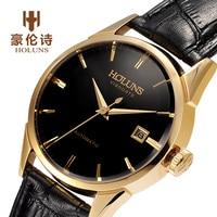 Automatic Mechanical Watches Mens Top Brand Luxury Business Full Steel Winner Wristwatch Clock Hour full steel watch Man Clock