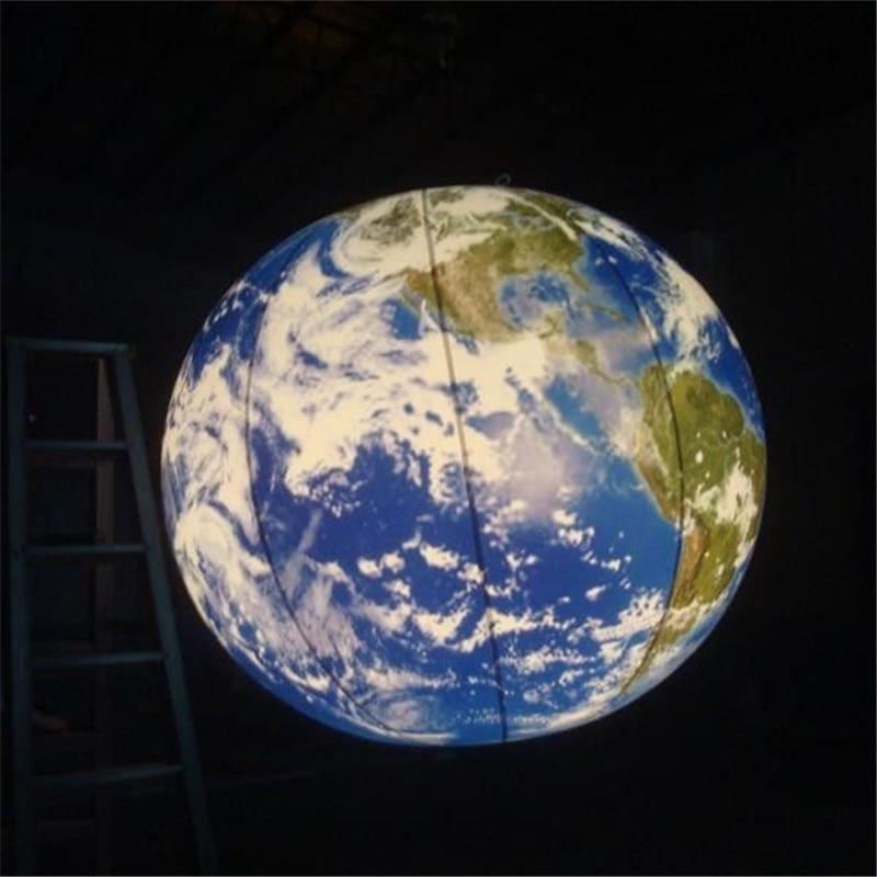 купить 1m Inflatable Balloon Inflatable LED Lighting Globe Universe Inflatable Model Decoration недорого