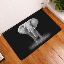 Cartoon Flannel Carpet Elephant Printing Mat For Living Room 40x60cm 50X80cm Door mat Rectangle Tapete(China)