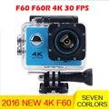 gopro hero 4 style Ultra HD 4K 30fps F60 WiFi Sport extreme Diving Helmet mini Cam 30M Waterproof go pro camera