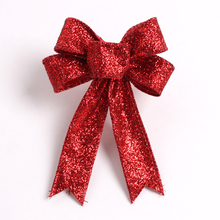 23CM Large Red Christmas Bow for Christmas Gifts and Decorations New Bowknot for Tree Wreath Ornament