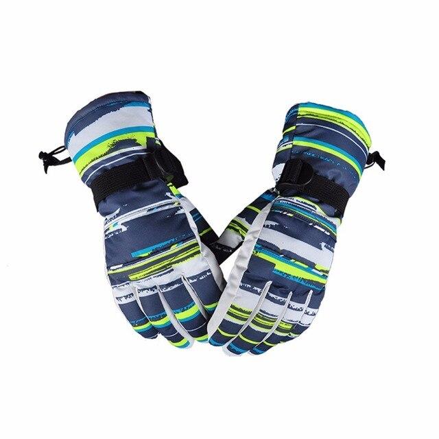1 пара унисекс теплые лыжные перчатки непромокаемые полный палец перчатки мужские зимние теплые сноубордические перчатки женские мотоциклетные велосипедные варежки